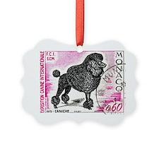 1975 Monaco Dog Show Poodle Stamp Ornament