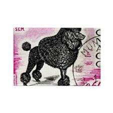 1975 Monaco Dog Show Poodle Stamp Rectangle Magnet