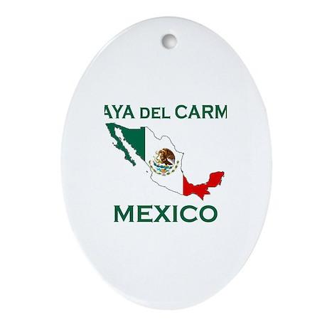 Playa Del Carmen, Mexico Oval Ornament