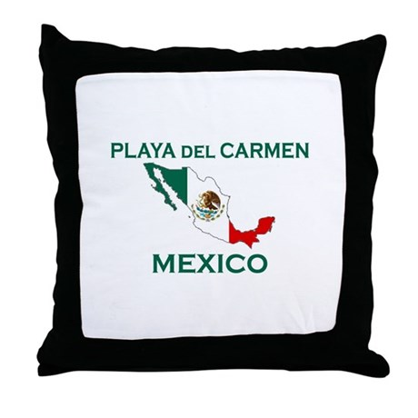 Playa Del Carmen, Mexico Throw Pillow