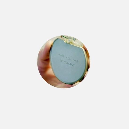 Heart pacemaker demonstration model Mini Button