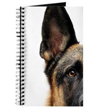 German shepherd dog with white background. Journal