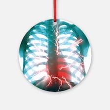 Heart attack Round Ornament