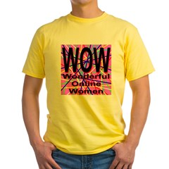 WOW: Wonderful Online Women Yellow T-Shirt