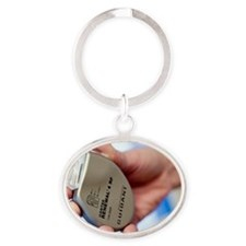 Heart pacemaker Oval Keychain