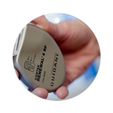 Heart pacemaker Round Ornament