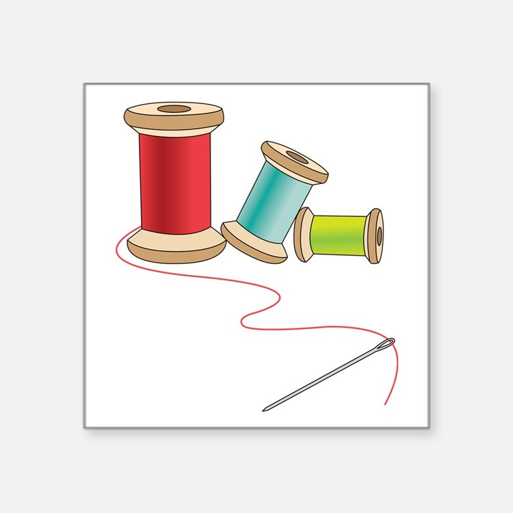 Thread and Needle Sticker