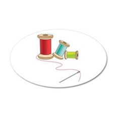 Thread and Needle Wall Decal