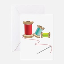 Thread and Needle Greeting Cards