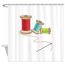 Thread and Needle Shower Curtain