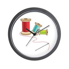 Thread and Needle Wall Clock