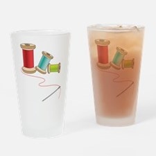 Thread and Needle Drinking Glass
