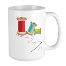 Thread and Needle Mugs