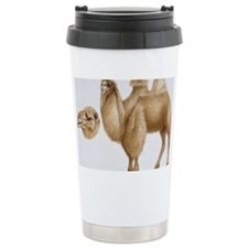 Illustration of Bactrian Camel  Travel Mug