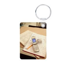Notebook and cell phone on Keychains