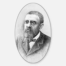 Henri Poincare, French mathematicia Sticker (Oval)