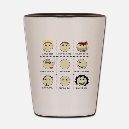 Face Alignment Chart (Black Text) Shot Glass