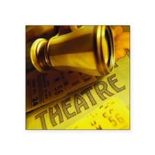 """Playbill with theater ticke Square Sticker 3"""" x 3"""""""