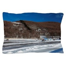 Lake Megami in Winter Pillow Case