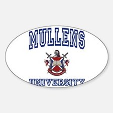 MULLENS University Oval Decal
