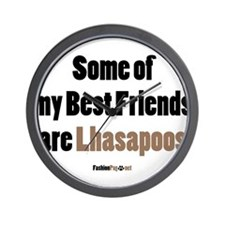 Lhasapoo dog Wall Clock
