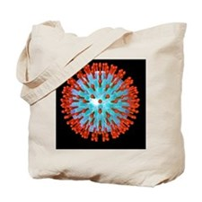 Herpes virus particle, computer artwork Tote Bag