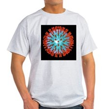 Herpes virus particle, computer artw T-Shirt