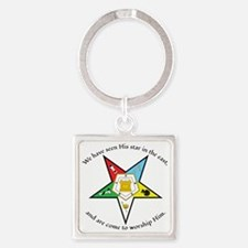 Eastern Star Matthew 2:2 Square Keychain