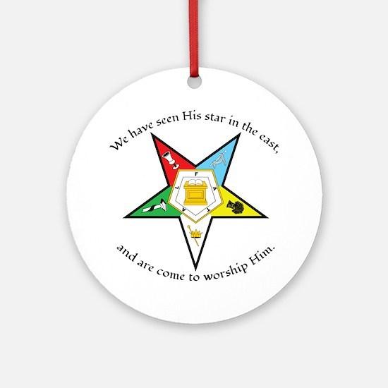 Eastern Star Matthew 2:2 Round Ornament