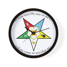 Eastern Star Matthew 2:2 Wall Clock