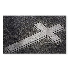 cross depicted on a memorial m Decal