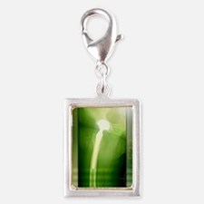 Hip replacement, X-ray Silver Portrait Charm