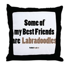 Labradoodle dog Throw Pillow