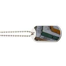 Layers of brick and mortar in tiers Dog Tags