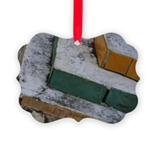 Layers of brick and mortar in tie Ornament