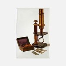 Historical microscope Rectangle Magnet