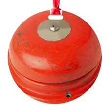 Red Fire Alarm Ornament
