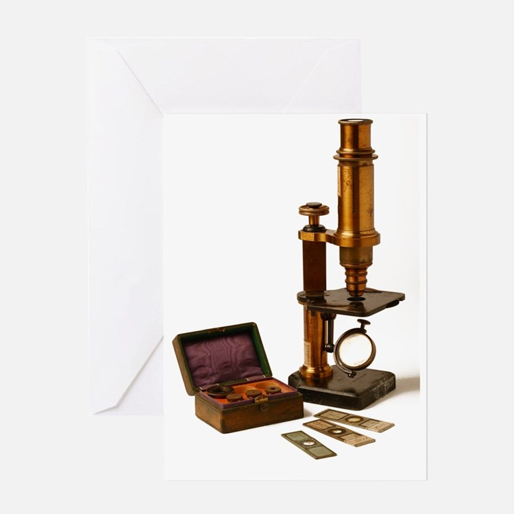 Historical microscope Greeting Card