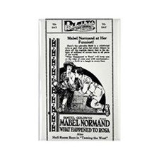 Mabel Normand WHAT HAPPENED Rectangle Magnet