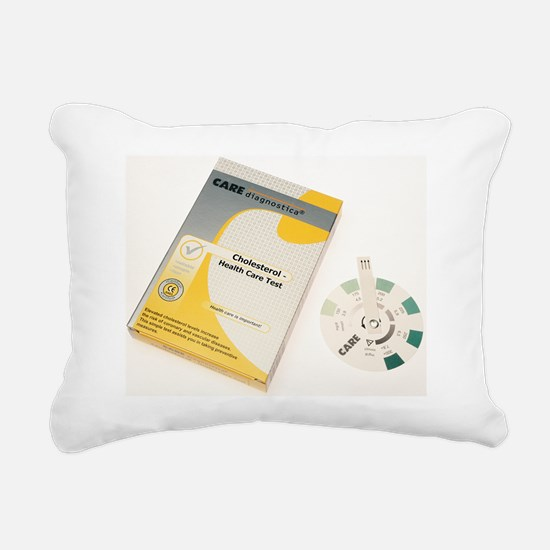 Home cholesterol test ki Rectangular Canvas Pillow