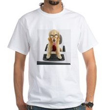 Dog wearing tie and glasses sitti Shirt