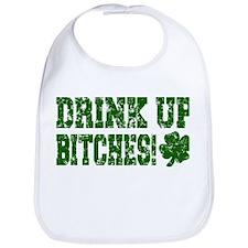 Drink Up Bitches Distressed Bib