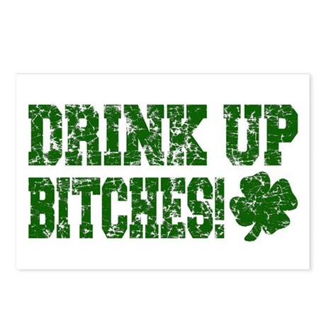 Drink Up Bitches Distressed Postcards (Package of