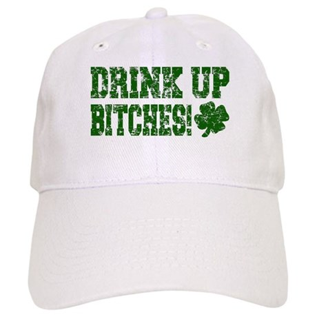 Drink Up Bitches Distressed Cap