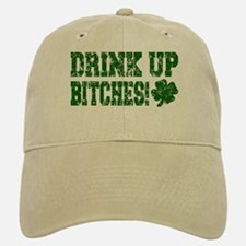 Drink Up Bitches Distressed Baseball Baseball Cap