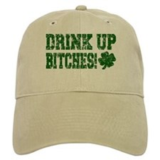 Drink Up Bitches Distressed Baseball Cap
