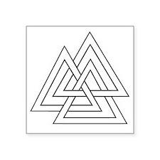 "The Valknut Square Sticker 3"" x 3"""
