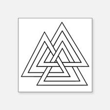 "The Valknut Square Sticker 3"" x 3"""