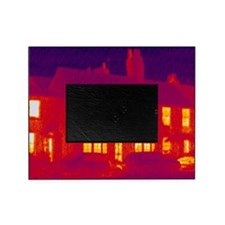 House, thermogram Picture Frame