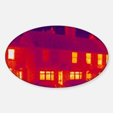 House, thermogram Sticker (Oval)
